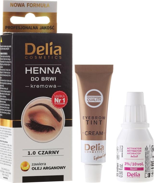 Vopsea Cremă pentru sprâncene - Delia Cosmetics Cream Eyebrow Dye