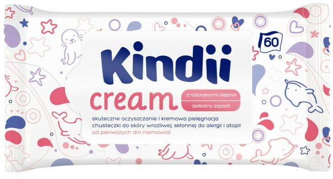 Șervețele umede pentru copii - Kindii Cream — Imagine N1