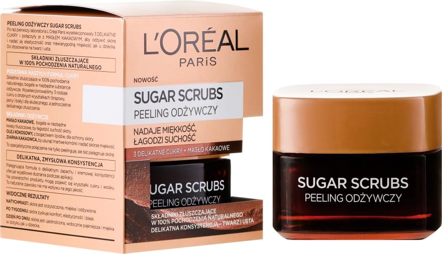 Scrub nutritiv pentru față - L'Oreal Paris Sugar Scrubs