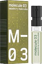 Parfumuri și produse cosmetice Escentric Molecules Molecule 03 - Apă de toaletă (mostră)