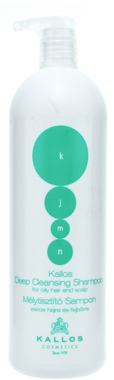 """Șampon pentru părul și scalpul gras """"Curățare"""" - Kallos Cosmetics Deep Cleansing Shampoo — Imagine N3"""