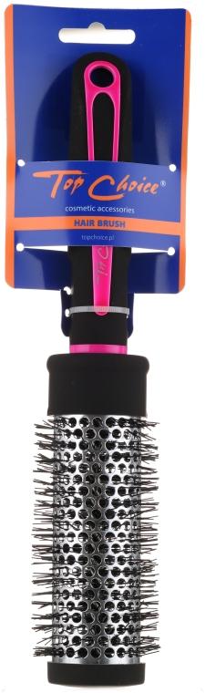 """Perie rotundă pentru păr """"Neon"""", 37 mm, 63794, negru + roz - Top Choice — Imagine N1"""