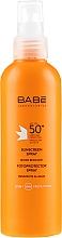 Parfumuri și produse cosmetice Spray de protecție solară SPF50+ - Babe Laboratorios Sunscreen Spray SPF 50+