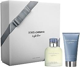 Parfumuri și produse cosmetice Dolce & Gabbana Light Blue Pour Homme - Set (edt/75ml + ash/balm/75ml)