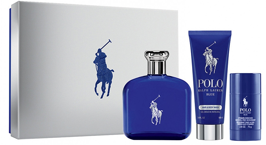 Ralph Lauren Polo Blue - Set (edt/125ml + sh/gel/100ml+deo/75ml) — Imagine N1