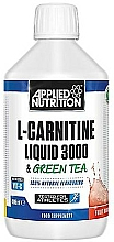 "Parfumuri și produse cosmetice Supliment alimentar ""L-Carnitine Liquid 3000 & Green Tea, Sour Apple"" - L-Carnitine Liquid 3000 & Green Tea, Sour Apple"