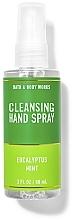Parfumuri și produse cosmetice Spray de curățare pentru mâini  - Bath And Body Works Cleansing Hand Spray Eucalyptus Spearmint