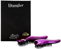 Parfumuri și produse cosmetice Set perii de păr - KayPro Dtangler Miraculous Purple (2xbrush)