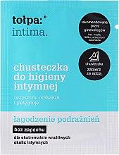 Parfumuri și produse cosmetice Șervețele pentru igiena intimă cu protecție calmantă 1 buc - Tolpa Intima