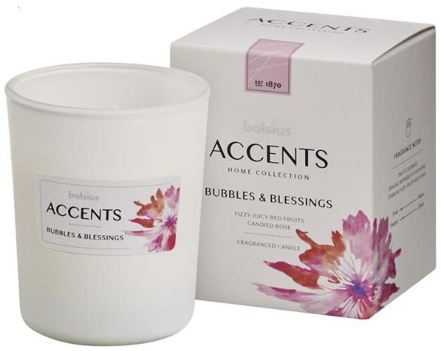 "Lumânare aromatică în borcan ""Bubbles & Blessings"" 92/76 - Bolsius Aromatic — Imagine N1"