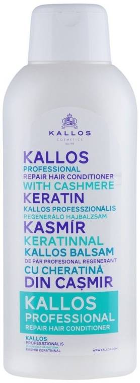 Balsam regenerant pentru păr - Kallos Cosmetics Repair Hair Conditioner With Cashmere Keratin — Imagine N1