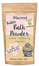 """Parfumuri și produse cosmetice Pudră pentru baie """"Cupcake dulce de zmeură"""" - Nacomi Sweet Raspberry Cupcake Bath Powder"""