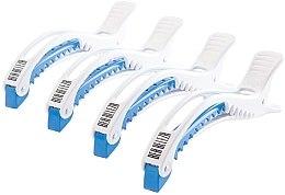 Parfumuri și produse cosmetice Cleme pentru păr, albastru-alb - Dajuja Penguin Clip White-Blue