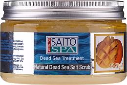 """Parfumuri și produse cosmetice Scrub de sare pentru corp """"Mango"""" - Saito Spa Mango Dead Sea Salt Body Scrub"""