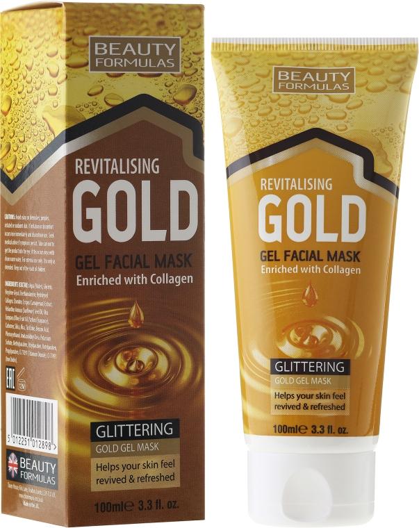 Mască de curățare pentru față - Beauty Formulas Gold Gel Facial Mask