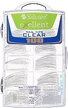 Parfumuri și produse cosmetice Tipsuri pentru unghii, d/k - Silcare Tipsy Exellent Clear