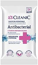 Parfumuri și produse cosmetice Șervețele umede antibacteriene, 24 bucăți - Cleanic Antibacterial Wipes