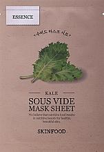 Parfumuri și produse cosmetice Mască din țesătură pentru față - Skinfood Kale Sous Vide Mask Sheet