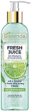 Parfumuri și produse cosmetice Gel de curățare pentru față - Bielenda Fresh Juice Detox Lime