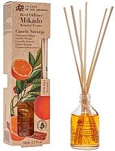 """Parfumuri și produse cosmetice Difuzor aromatic """"Portocală și Scorțișoară"""" - La Casa de los Aromas Mikado Botanical Reed Diffuser Cinnamon Orange"""