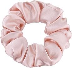 """Parfumuri și produse cosmetice Elastic din mătase naturală pentru păr, roz pudră """"Midi"""" - Makeup Midi Scrunchie Powder"""