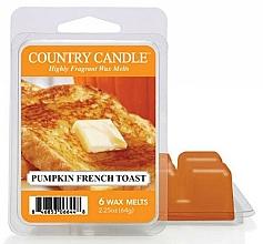 Parfumuri și produse cosmetice Ceară pentru lampă aromatică - Country Candle Pumpkin French Toast Wax Melts