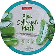Parfumuri și produse cosmetice Mască de colagen cu aloe pentru față - Purederm Aloe Collagen Mask