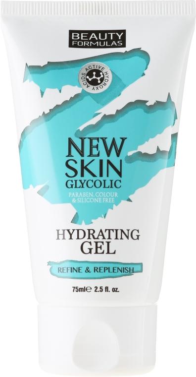 Gel hidratant pentru față - Beauty Formulas New Skin Glycolic Hydrating Gel