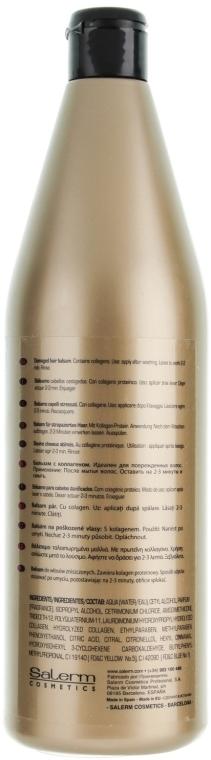 Balsam proteic de păr - Salerm Linea Oro Proteinico Balsamo — Imagine N2