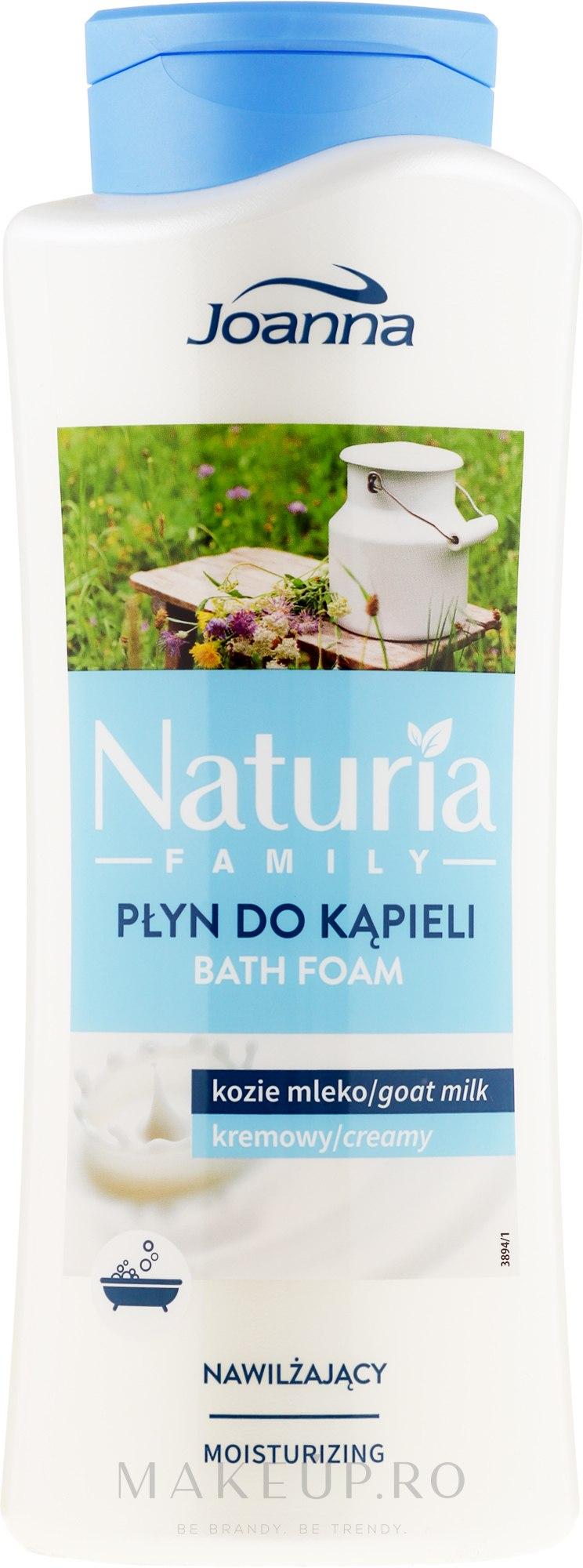 Spumă pentru baie - Joanna Naturia Family Bath Foam Goat Milk — Imagine 750 ml