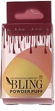 Parfumuri și produse cosmetice Burete pentru machiaj, roz cu galben - Bling Powder Puff