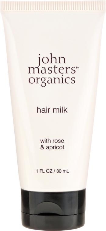 """Lapte pentru capetele uscate ale părului """"Trandafir și Caise"""" - John Masters Organics Hair Milk Rose & Apricot (mini) — Imagine N1"""