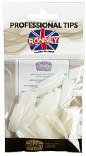 Parfumuri și produse cosmetice Tipsuri transparente, mărimea 4, bej - Ronney Professional Tips