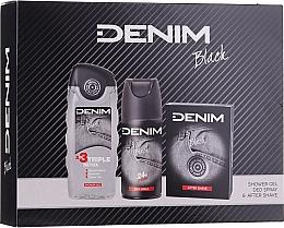 Parfumuri și produse cosmetice Denim Black - Set (ash/lot/100ml + deo/150ml + sh/gel/250ml)