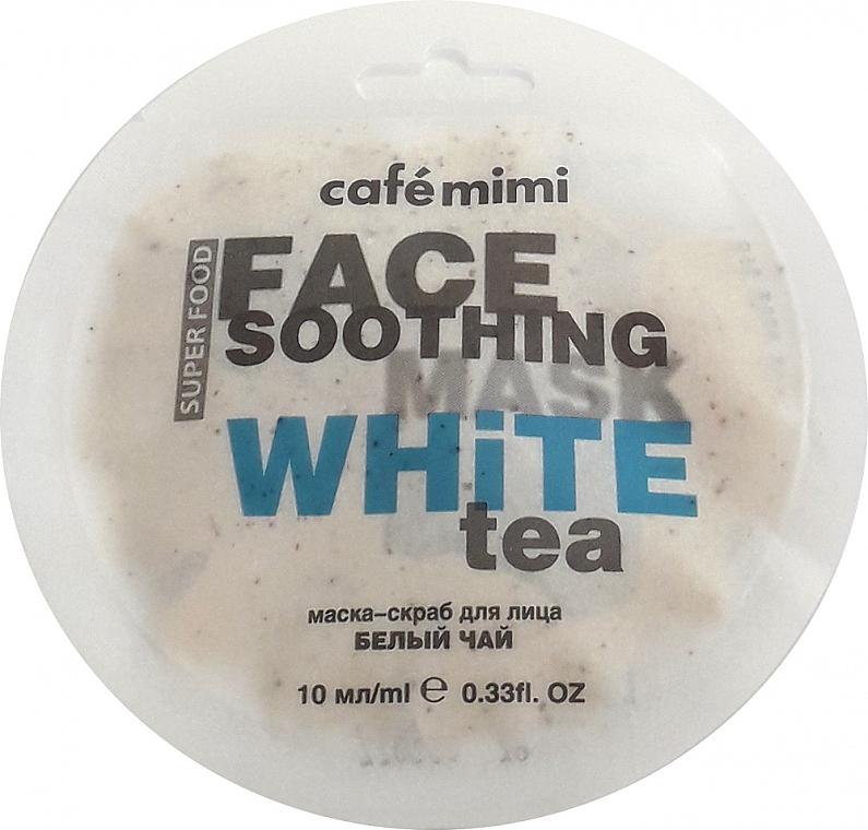 """Mască-scrub pentru față """"Ceai alb și lotus"""" - Cafe Mimi Face Mask"""