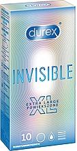 Parfumuri și produse cosmetice Prezervative, 10 bucăți - Durex Invisible Extra Large