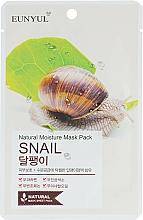 Parfumuri și produse cosmetice Mască din țesătură cu mucină de melc pentru față - Eunyul Natural Moisture Mask Pack