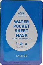 Parfumuri și produse cosmetice Mască hidratantă de țesut pentru față - Laneige Water Pocket Sheet Mask Water Bank
