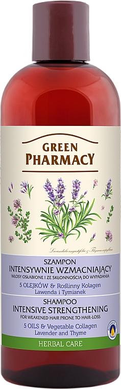 """Șampon pentru păr slab, predispus la căderea părului """"Lavandă și Cimbru"""" - Green Pharmacy"""