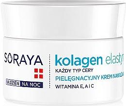 Parfumuri și produse cosmetice Cremă hidratantă - Soraya Kolagen i Elastyna Moisturizing Cream