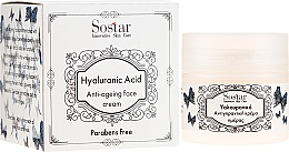 Parfumuri și produse cosmetice Cremă anti-îmbătrânire cu acid hialuronic pentru față - Sostar Hyaluronic Acid Anti-Aging Face Cream