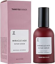 Parfumuri și produse cosmetice Ser regenerant pentru față, antirid - Thank You Farmer Miracle Age Serum