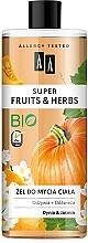 """Parfumuri și produse cosmetice Gel de duș """"Dovleac și iasomie"""" - AA Super Fruits & Herbs"""