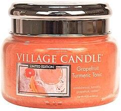 Lumânare aromată - Village Candle Grapefruit Turmeric Tonic Glass Jar — Imagine N1