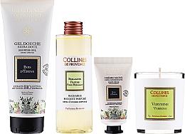 Parfumuri și produse cosmetice Set - Collines De Provence Gift Box (shr/gel/200ml + h/cr/30ml + candle/75g + aroma/diffuser/200ml)