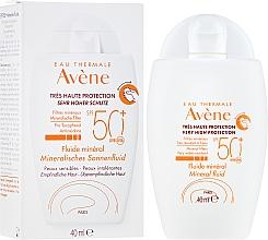 Parfumuri și produse cosmetice Fluid protecție solară, cu extracte minerale - Avene Eau Thermale Mineral Fluid SPF 50+