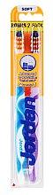 Periuță de dinți Advanced, albastră+ mov - Jordan Advanced Soft Toothbrush — Imagine N1