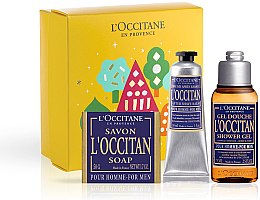 Parfumuri și produse cosmetice L'Occitane Pour Homme - Set (sh/gel/75ml + ash/balm/30ml + soap/50g)