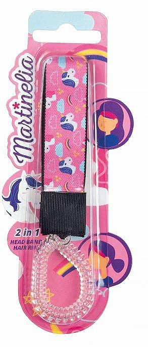 "Elastic-bandă de păr 2 in 1, ""Unicorn"" - Martinelia Head Band + Hair Ring — Imagine N1"