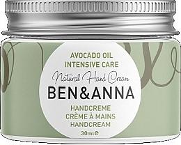 """Parfumuri și produse cosmetice Cremă naturală pentru mâini """"Avocado"""" - Ben & Anna Handcreme Intensive Care"""